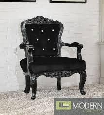 Victorian Armchairs Victorian Style French Accent Arm Chair Black