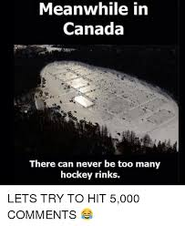 Canada Hockey Meme - meanwhile in canada there can never be too many hockey rinks lets