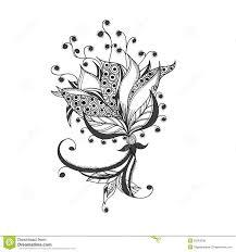 20 best patterned flower tattoo images on pinterest flower