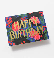 floral foil wrap floral foil birthday greeting card by rifle paper co made in usa