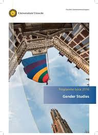 programme book master gender studies 2016 2017 by humanitiesuu issuu