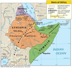 africa map eritrea and djibouti accuse eritrea of destabilizing the horn of
