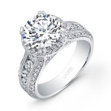 wide band engagement rings uneek diamond wide band halo engagement ring