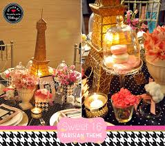 styling ideas for a paris themed sweet 16 soiree