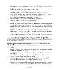 Oracle Dba 3 Years Experience Resume Samples Oracle Dba Cv Peoplesoftoracle Dba Resume Samples Sql Server Dba