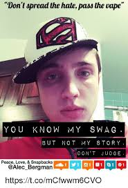 Meme Snapback - don t spread the hate pass the vape you know my swag but not my