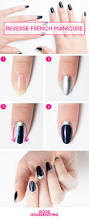 reverse french manicure tutorial u2014 how to do a half moon manicure