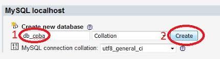 cara membuat database baru mysql cara membuat database dan tabel baru menggunakan phpmyadmin it