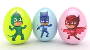 pj masks 3d learn colors surprise eggs kids toddlers