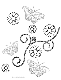 coloring pages of flowers and hearts eliolera com