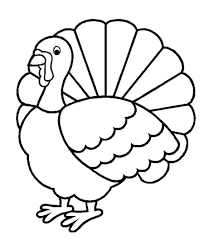 free turkey outline printable map thanksgiving color page archives