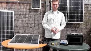 how to connect an akt solar panel to a battery via a charge