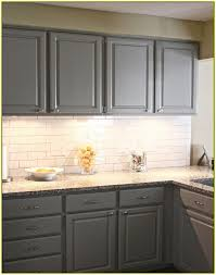 Gray Cabinets With White Countertops Gray Cabinets White Subway Tile Backsplash Kitchen Design