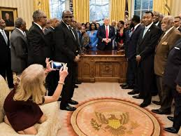 Trump In The Oval Office Media Meltdown Over Kellyanne Conway Sitting On Oval Office Couch