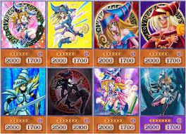 yugioh orica dark magician anime art set of 8 cards what u0027s