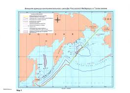 Map Of Oceans Continental Shelf Submission To The Commission By The Russian