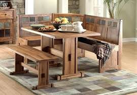 kitchen nook furniture set corner nook table corner bench and table set rustic corner kitchen