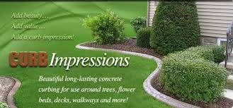 curb impressions concrete landscape edging for use around trees