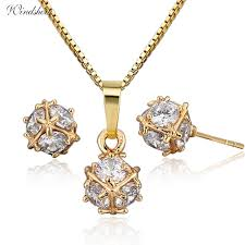 small ball pendant necklace images Cute pave cz small round ball stud earrings necklaces pendants jpg