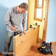 Hanging Prehung Door Interior How To Hang A New Door Family Handyman