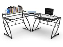 l shaped gaming computer desk z line belaire glass l shaped gaming computer desk citidecor