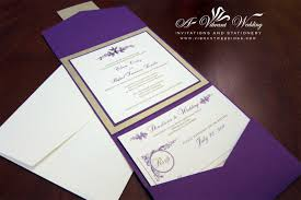 Scroll Invitation Cards Purple And Gold Wedding Invitation U2013 A Vibrant Wedding