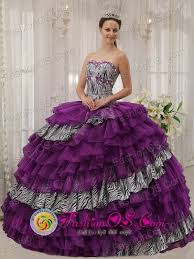 lerma mexico wholesale customize zebra and purple organza with
