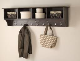 Cubby Wall Shelf by Mounted Coat Rack Entry Way Wall Shelf Hanging Mud Room Organizer