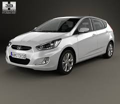 hyundai accent model hyundai accent rb with hq interior 2014 3d model hum3d