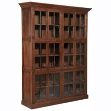 Solid Wood Bookcases With Glass Doors Furniture Best Solid Wood Bookcase With Glass Doors Solid Wood
