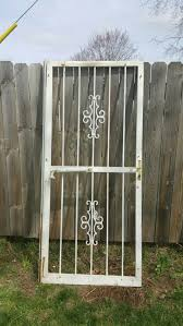 vintage exterior metal security gate door wrought iron deadbolt w