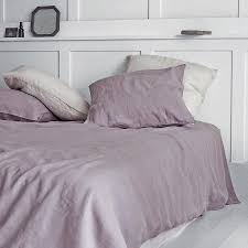 bedroom original dusty rose washed linen duvet cover in thistle