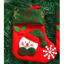 gift ornament socks bags santa claus elk snowman pattern