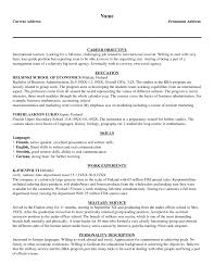 Sle Of A Resume Objective by Objectives For Internship Resume Resume Peppapp