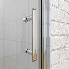 900 Shower Door 900 X 760mm Frameless Hinge Pivot 6mm Shower Enclosure Set