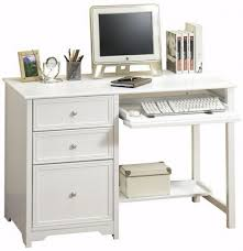 Wood Computer Desk For Home Awesome White Wood Computer Desk Apathtosavingmoney Intended For