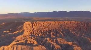 anza borrego desert badlands sunrise drone video of anza borrego desert canyons and