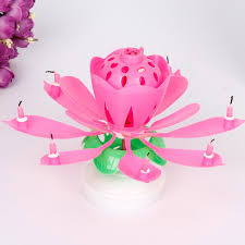 lotus birthday candle musical birthday candle lotus flower candles rotating