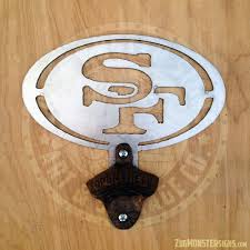 san francisco 49ers vintage bottle opener zug monster signs