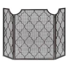 fleur de lis cage fireplace screen hayneedle