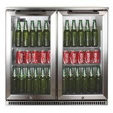 glass door bar fridge perth 190 litres single glass door stainless steel cooler drinks bar