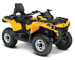 two up atv riding with performance handling can am outlander max