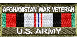 Us Army Decorations Afghanistan War Veteran Us Army Patch Rect Afghan War Patches