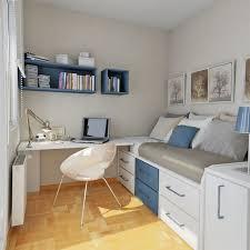 design interieur chambre ado petit espace idees accents bleu