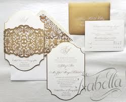 engraved wedding invitations lasercut wedding invitations gold engraved print diecut