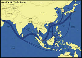 Asia Pacific Map by Asia Pacific Trade Routes 1 Map On Behance