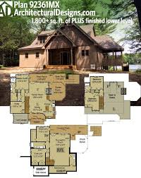 plan 92361mx rustic escape with optional lower level house