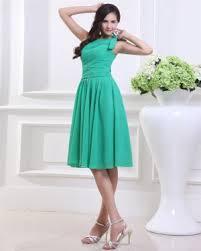 chiffon strapless flower ruffle knee length graduation dress