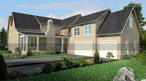 Exterior View Architectural 3d Exterior Renderings Lush Green Trees Great