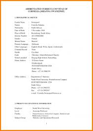 curriculum vitae exles for students in south africa cv south africa exle resume template exle